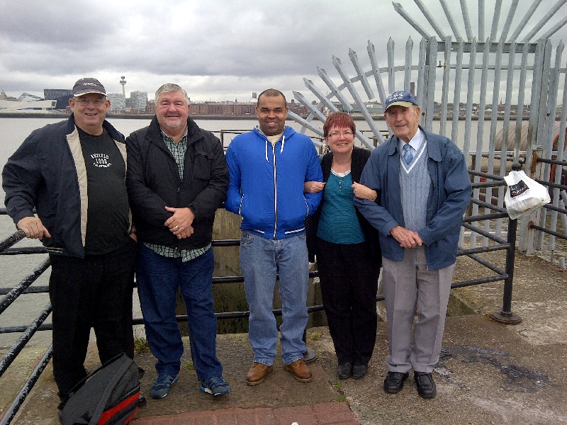 Bobby, Richie, Bobby and Jim (and Judy who organises our Trips) on a Men�s trip out to the U Boat Story Museum at Birkenhead