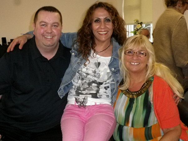 Ian (our Carers Break Fund Coordinator), Lynn (a member of our Management Committee) and Francesca (one of our carers)