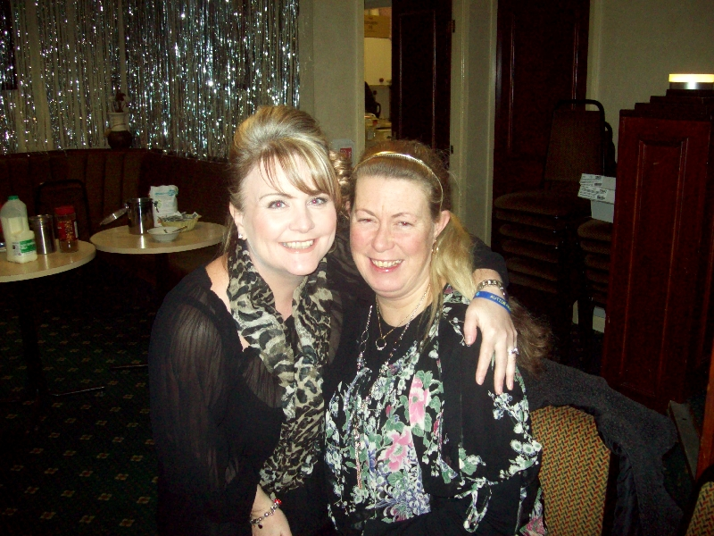Helen and Sue at the Knowsley Carers Centre Christmas Party