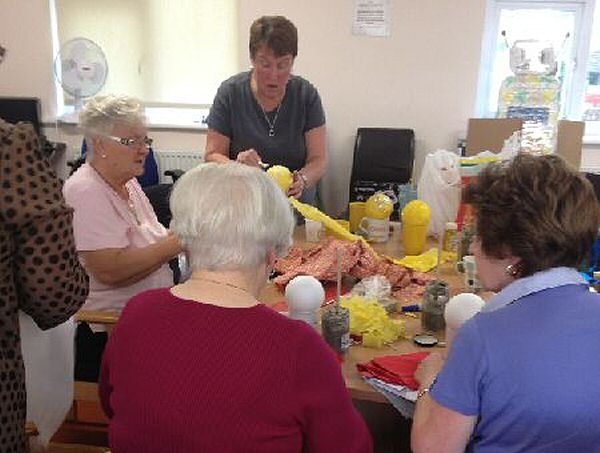 The lovely ladies in our Monday Craft Group