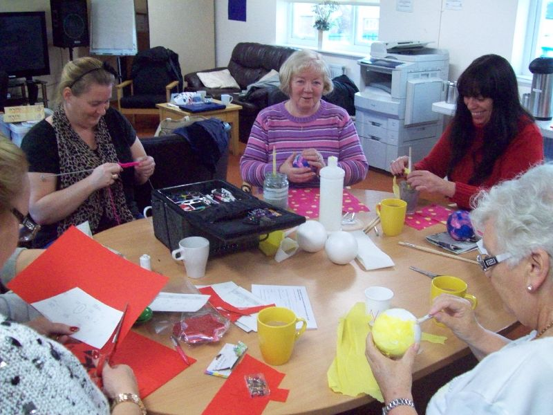 Knitting, Sewing, Cardmaking, Crafts..... Our Monday Craft Group show off their talents!!