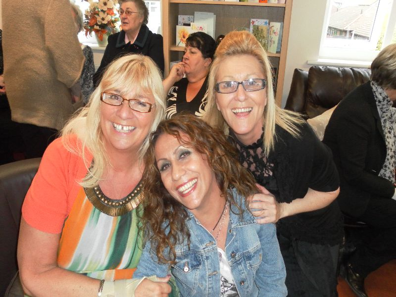 Lynne, Francesca and the lovely Ann at the Carers Centre