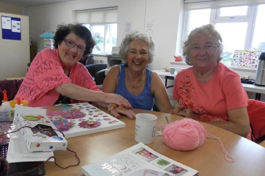 More of our lovely crafty ladies....
