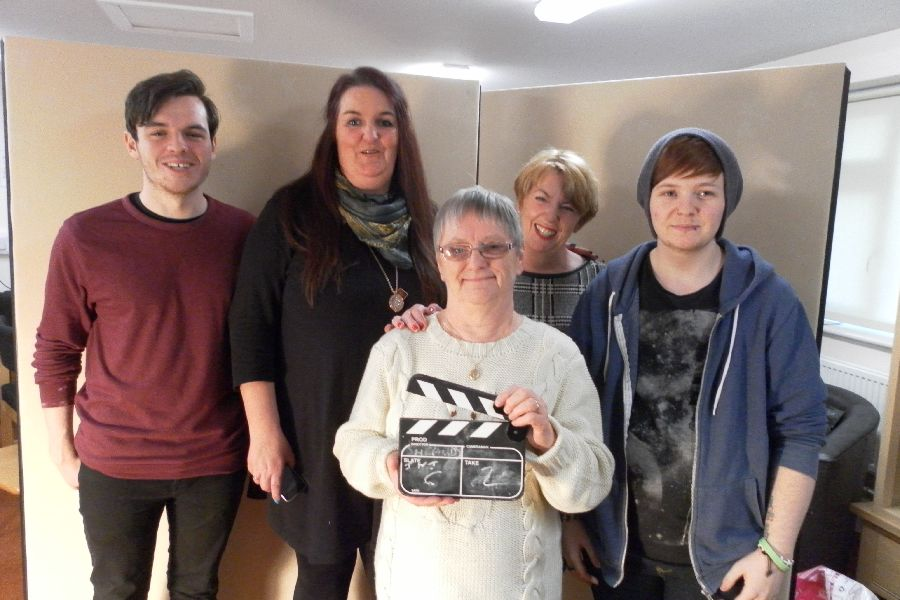 Volunteer students from Edge Hill University producing our Listening to Carers film
