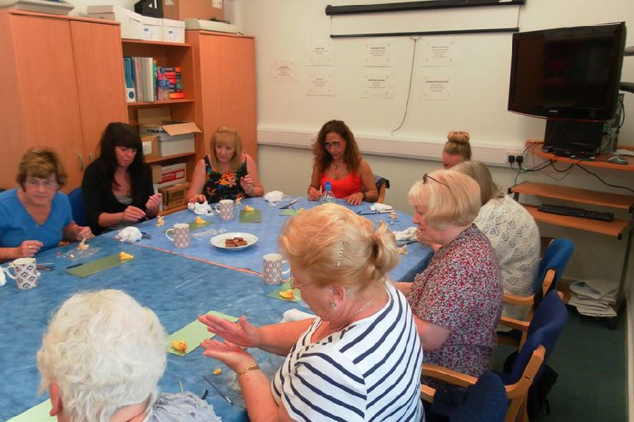 Always willing to try something new, our carers try their hand at sugarcraft